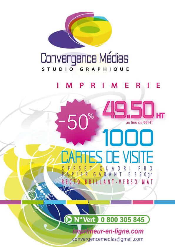Tarif Promo Cartes De Visite Convergence Medias A Montpellier